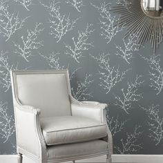 Tempaper -temporary wallpaper! vinyl-coated- From the fabulous store, fab.com Several great choices.