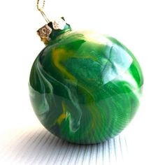 Glass Ornament Painted Inside  Handmade by creationsbyjdb on Etsy, $20.00