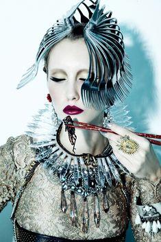 Jamie Nelson, Gabrielle Sullivan, Wilhelmina, avant garde, future fashion, futuristic clothing, luxury lifestyle, aristocracy, rich, futuris by FuturisticNews.com