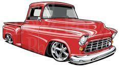Rad Red 1955 Chevy Truck