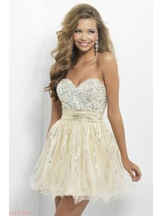 Sweetheart A-line Mini-Sequins Cocktail/Homecoming Dress