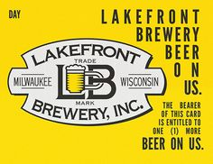 brewery tour Lakefront brewery with coupons