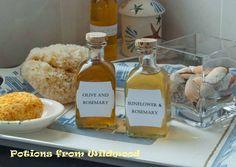 homemade bath oils..