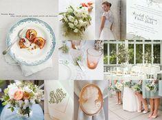 Peach wedding. Cameos, sigh...