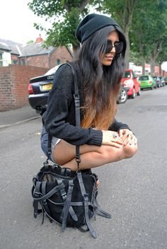hair colors, ombre hair color, fashion, cloth, accessoris, dope style, alexander wang, black, bags