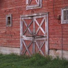 Exterior of big old red barn