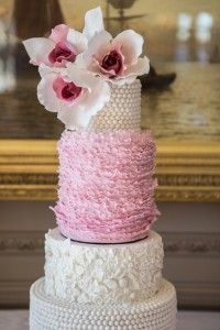 Pink & Gold Wedding Inspiration     by Baked In Caked Out     TheCakeBlog.com