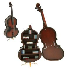Double bass bookshelf