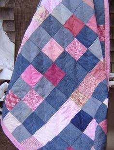 Pink and Denim Quilt