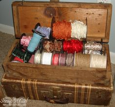 use old tool boxes for craft storage