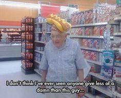 Yeah, sure, I'll wear the hotdog hat.