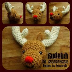 Ravelry: xnekochan's Rudolph -  Crochet Christmas Ornaments