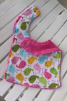 Baby Girl Bib  Reversible by TheSugarButtonsShop on Etsy, $8.00