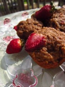 Healthy strawberry banana muffins...yes please!