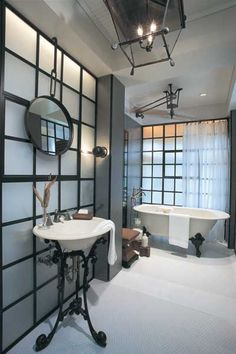 Modern bathroom with a victorian twist
