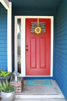 Red front door....love!!