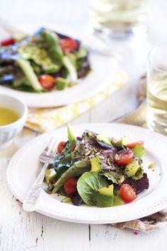 SuperSeed Green Salad with Honey Lemon Vinaigrette from @Katie | Epicurean Mom Blog
