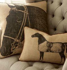 Perfect horse pillows  www.thewarmbloodhorse.com