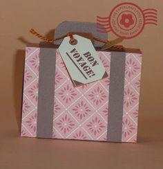 The Papercraft Post: Matchbox Suitcase Bon Voyage Gift