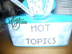Hot Topics: Need a little conversation starter at the dinner table?  Try THIS idea!!