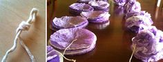 Coffee filter poms how to