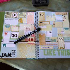 Inspiration: Calendar Journaling