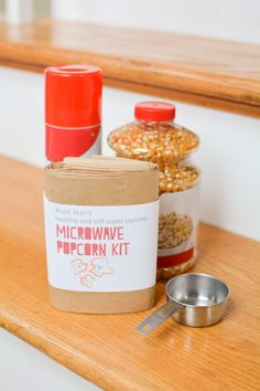 Aunt Jean's Easy DIY Microwave Popcorn Kit with Printable - The Perfect Simple Gift for the Person Who Loves Movie & Popcorn Nights!