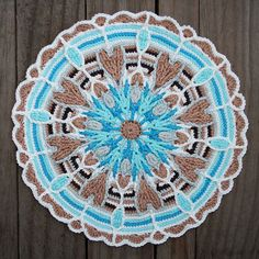Crochet Overlay Mandala No. 4 Pattern PDF by CAROcreated on Etsy