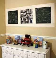 Repurposed Door - Love this idea!