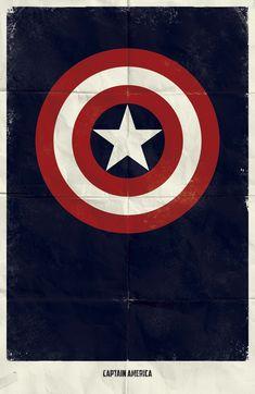 Marvel Minimalist Poster super hero, marvel, comic, captainamerica, captain america, movi, minimalist poster, posters, superhero