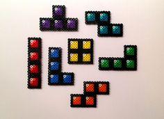 Tetris Perler Bead Magnets (Set of 7). $12.00, via Etsy.
