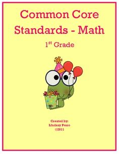 This 94 page bundle contains worksheets and activities that align with the four Common Core Standard Categories for First Grade. Included is: Geome...