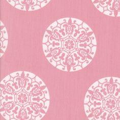Mandala Coral Fabric by the Yard