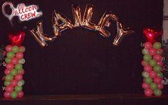 #balloonarch #balloons #doubleballoon #columns #ballooncolumns #arch #balloondecor #decor #partydecor #balloonpartydecor #ballooncrewinc #pink #princess #party #kailey #heart