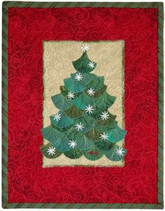 Ginkgo Christmas Tree with Snowballs by Ann Fahl