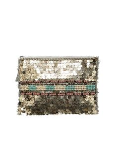 EVENING BAG WITH METALLIC SEQUINS AND FRINGING - Accessories - Accessories - Woman - ZARA Turkey