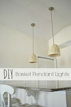 DIY Basket Pendant Lights - lizmarieblog.com