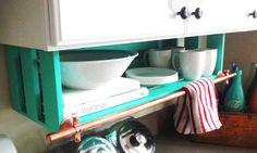 Kitchen Bathroom Organizer Cabinet Shelf by DellaLucilleDesigns, $60.00      dellalucilledesigns.etsy.com