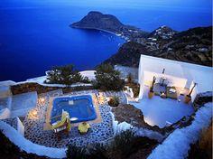 mediterranean house.  filicudi island.  italy.