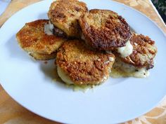 "BATTERED FRIED EGGPLANT ""SANDWICHES"": SPLENDID LOW-CARBING BY JENNIFER ELOFF:"