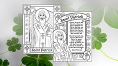 Free downloadable St. Patrick's day coloring pages!