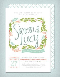 DIY Printable Wedding Invitation Spring Bloom