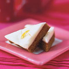 Gingerbread Squares with Lemon-Cream Cheese Frosting | MyRecipes.com