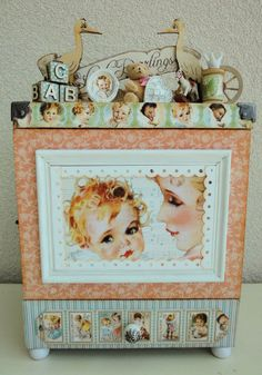 Look at this beautiful Little Darlings Music-Memory Cabinet by Petra on our Ning site! So many stunning details - click the picture to see them all! #graphic45 #DIY