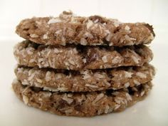 German Chocolate Cookies, using a cake mix.
