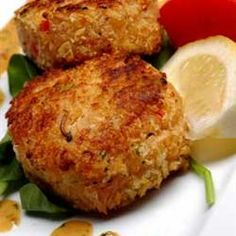 Chef John's Crab Cakes Allrecipes.com. I made these for my mom and they were easy and delicious!