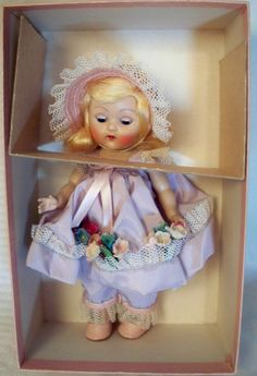 vintage 1952 Vogue Ginny doll Mistress Mary #54 with Hang Tag & Original Box #DollswithClothingAccessories #Vogue