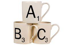 Scrabble Letter Mugs