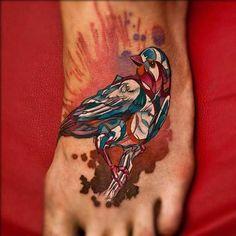 crazy bird tattoo