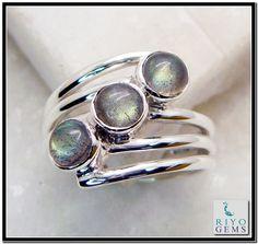 Labradorite silver Ring Jewelry Riyo Gems www.riyogems.com